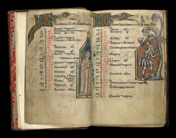 March, In The Calendar Of A Flemish Psalter